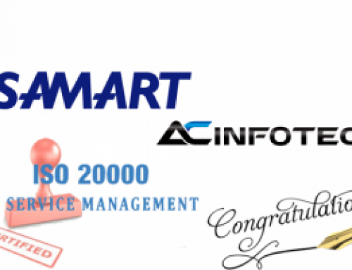 บริษัท สามารถคอมมิวนิเคชั่น เซอร์วิส จำกัด ได้ผ่านการรับรองมาตรฐาน ISO/IEC 20000:2011 (Information Technology Service Management System)