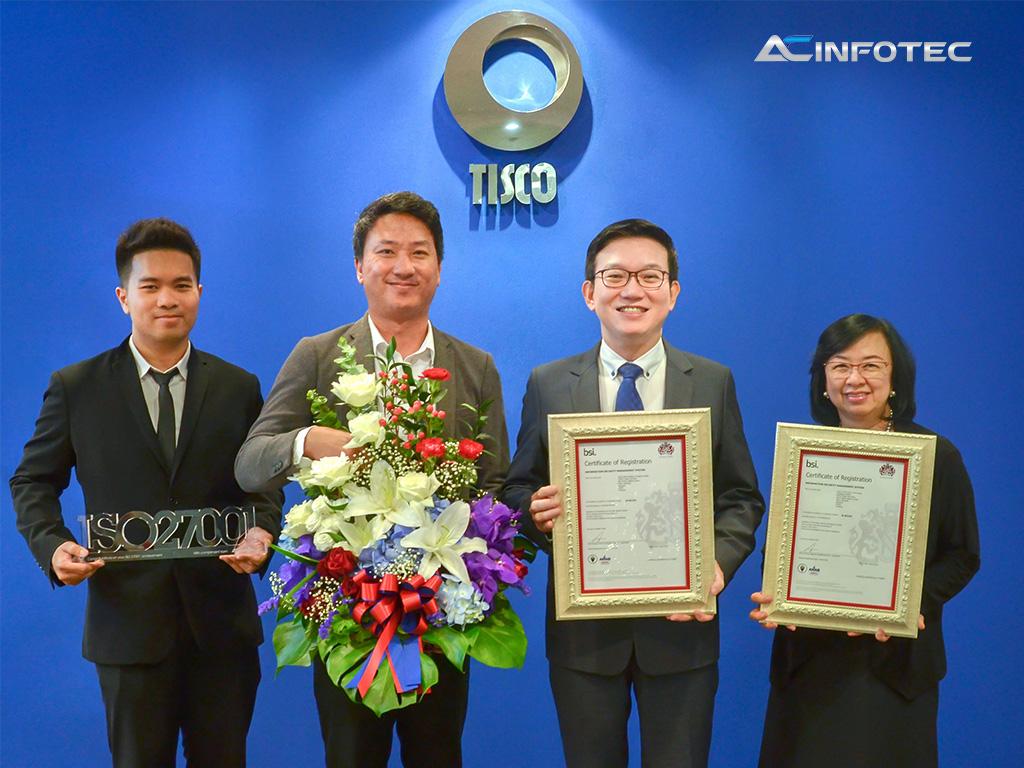 TISCO รับใบรับรองมาตรฐาน ISO 27001 เพื่อยกระดับระบบการเงิน BAHTNET, ICAS และระบบเครือข่ายเทคโนโลยีสารสนเทศ