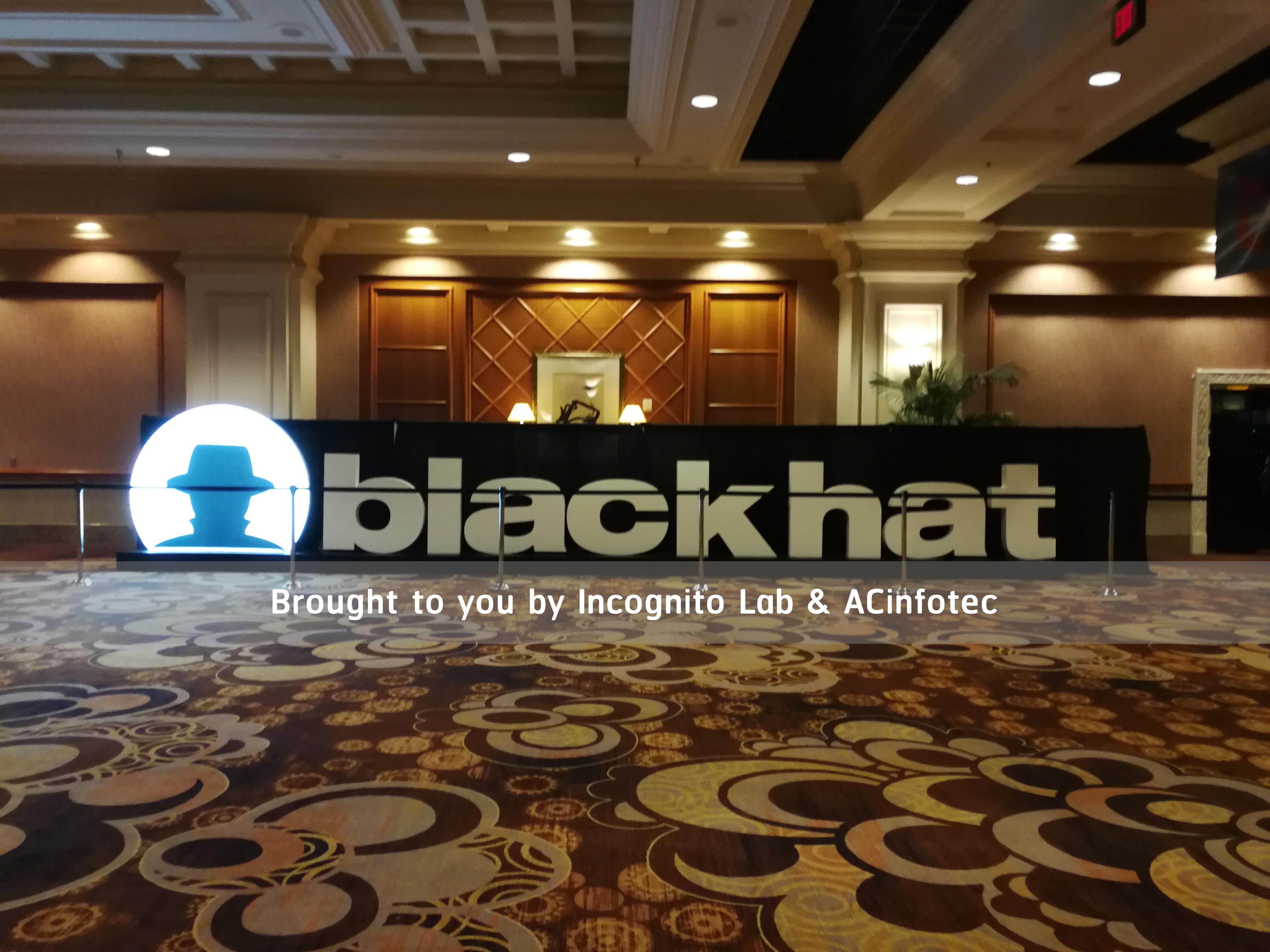 ACinfotec แนะนำงาน Blackhat USA 2018